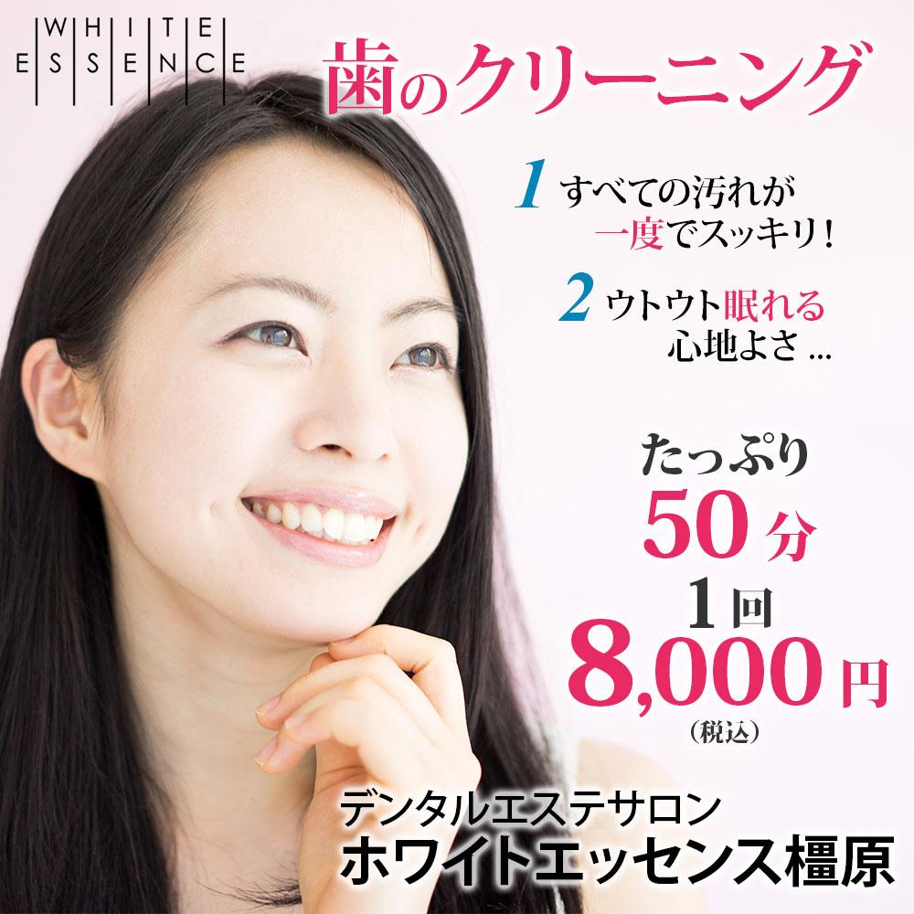 歯のクリーニング たっぷり50分/1回 8,000円